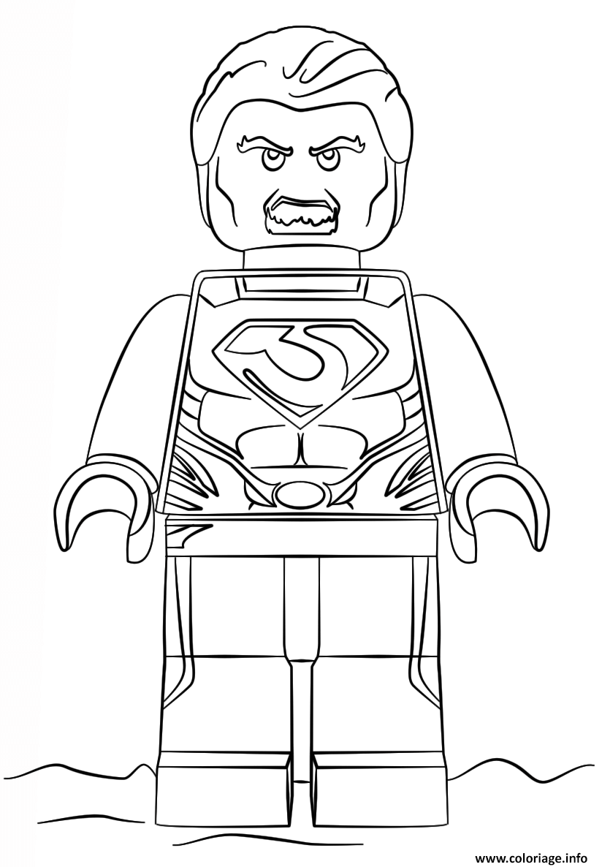 Dessin legoman of steel super heroes Coloriage Gratuit à Imprimer