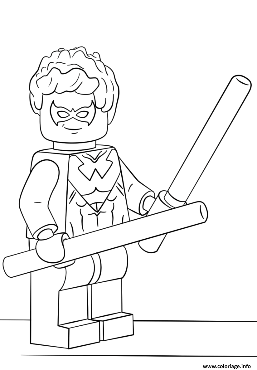 Coloriage Lego Nightwing Super