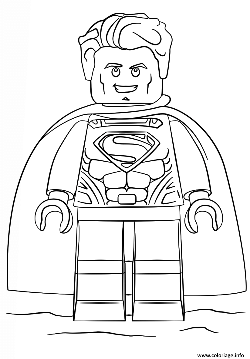 Coloriage lego superman super heroes dessin - Coloriage en ligne superman ...
