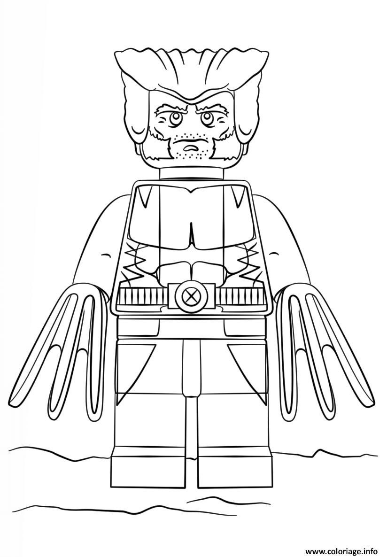 Dessin lego wolverine super heroes Coloriage Gratuit à Imprimer
