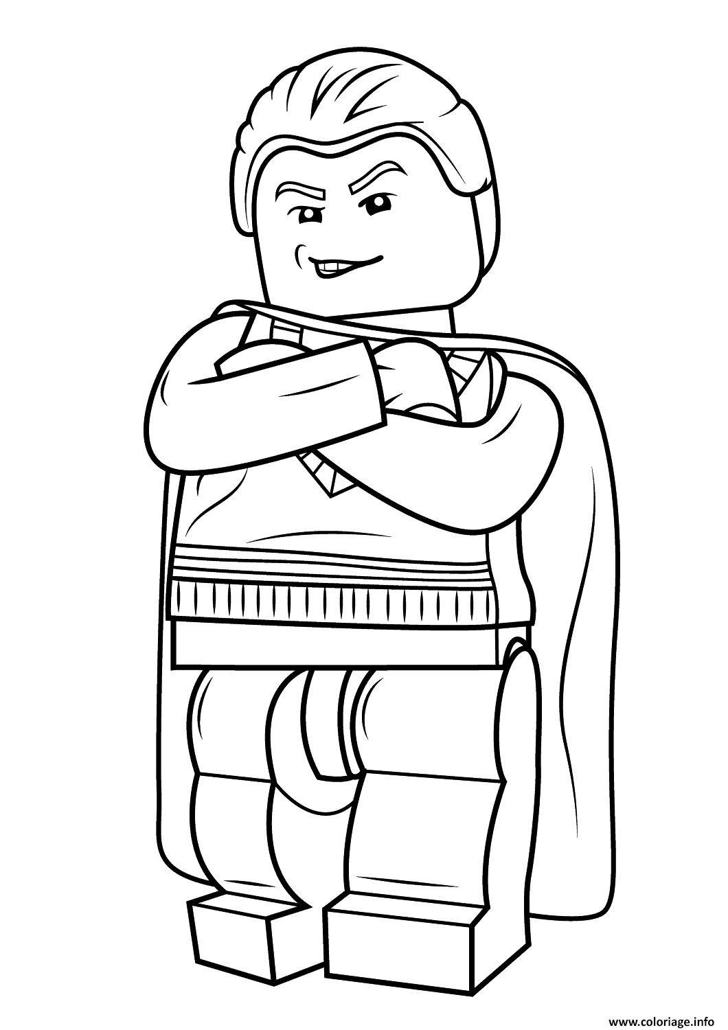 Coloriage Lego Draco Malfoy Harry Potter Jecolorie Com