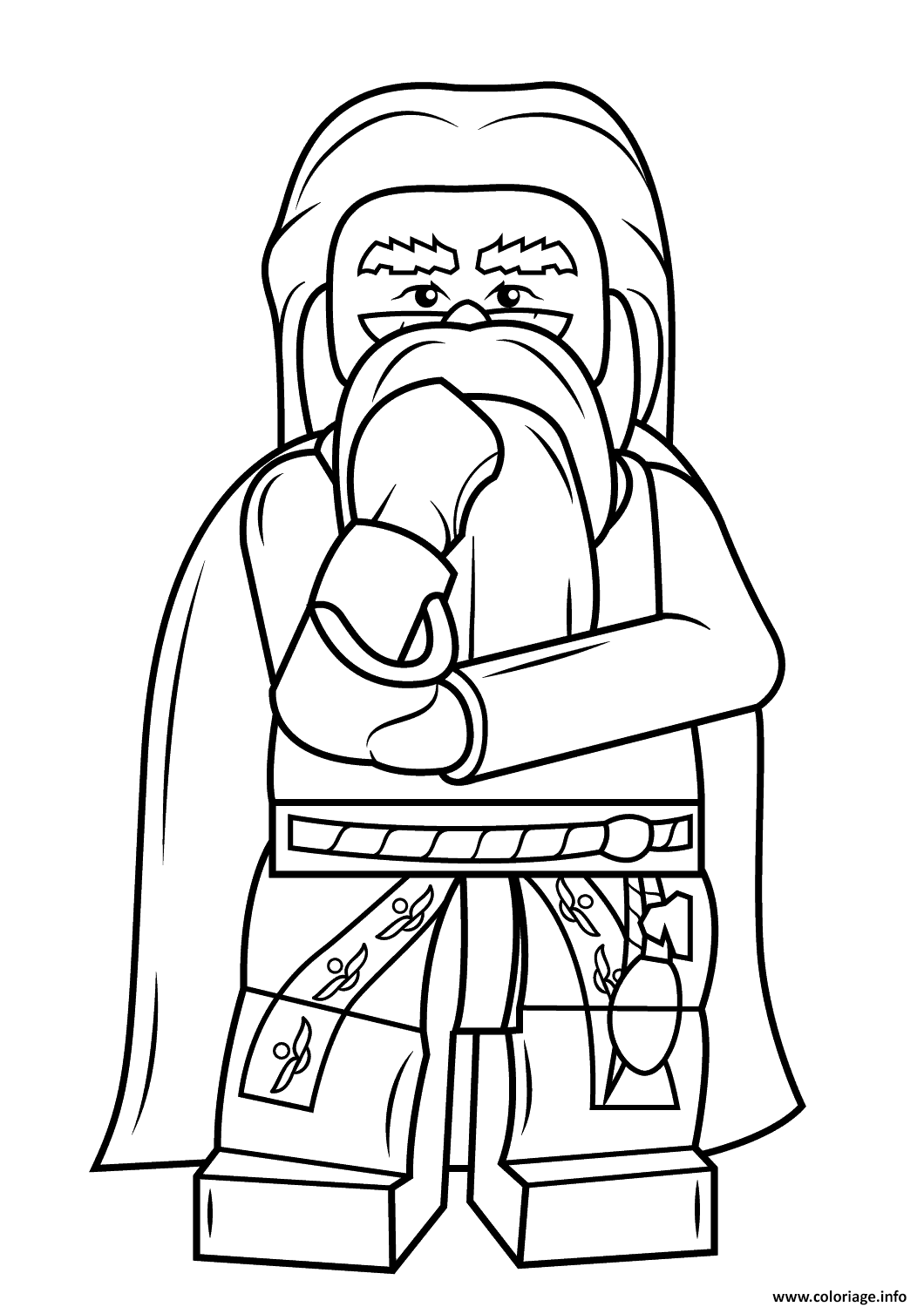Coloriage lego albus dumbledore harry potter - Dessin lego a colorier ...