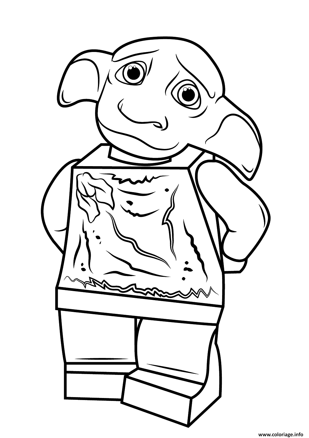 Coloriage Lego Harry Potter Dobby Harry Potter Jecolorie Com