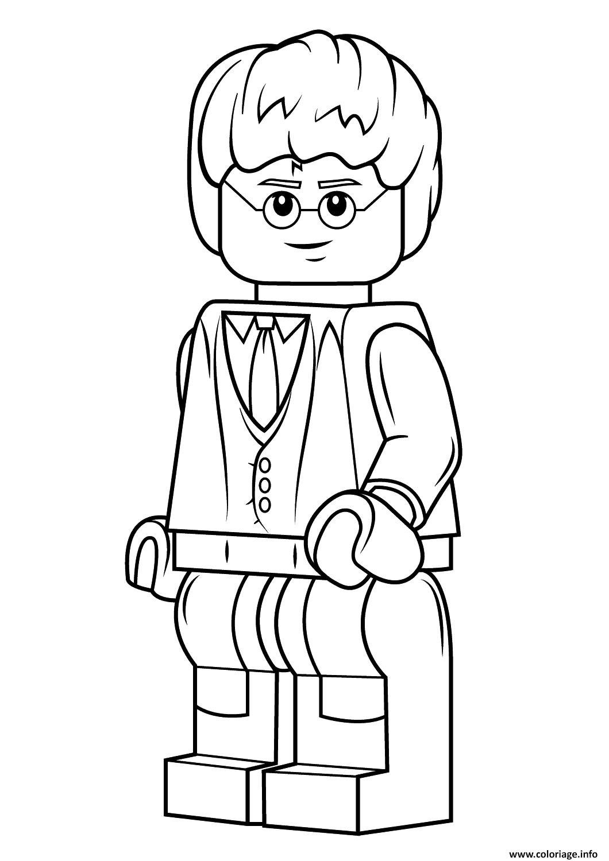 Coloriage Facile Harry Potter.Coloriage Lego Harry Potter Harry Potter Dessin