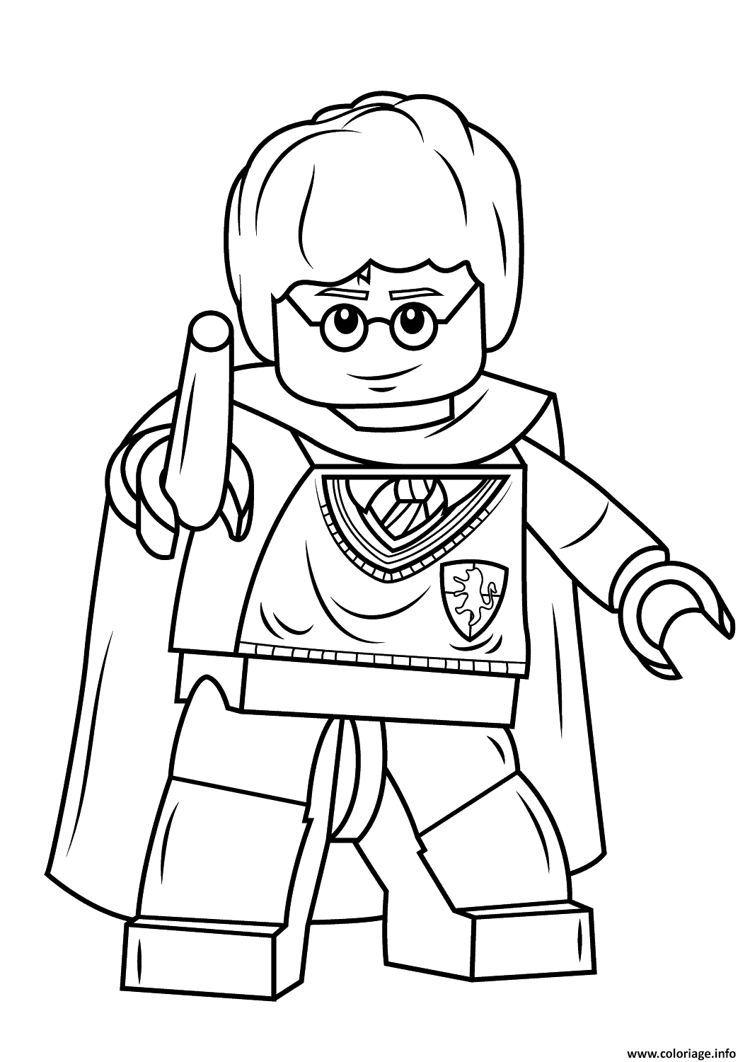 Coloriage En Ligne Harry Potter Gratuit.Coloriage Lego Harry Potter With Wand Harry Potter Dessin