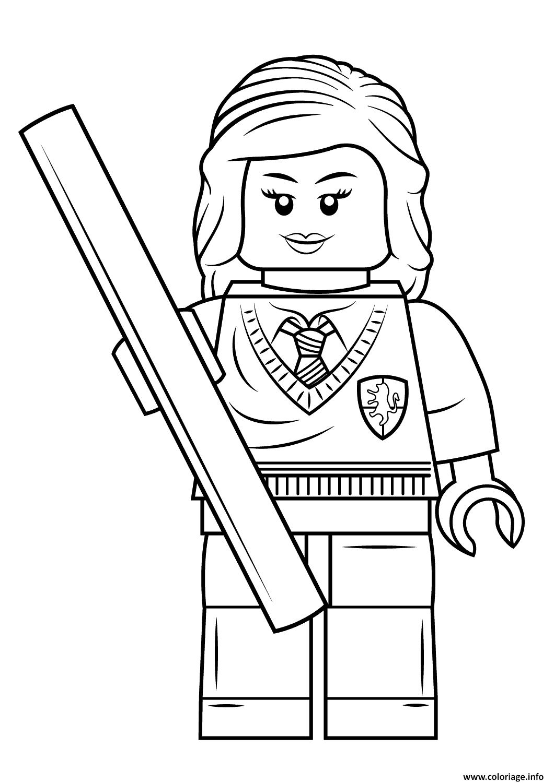 Coloriage Lego Hermione Granger Harry Potter Jecolorie Com