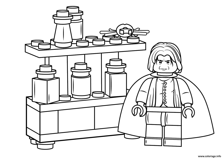 Coloriage Lego Severus Snape Harry Potter dessin