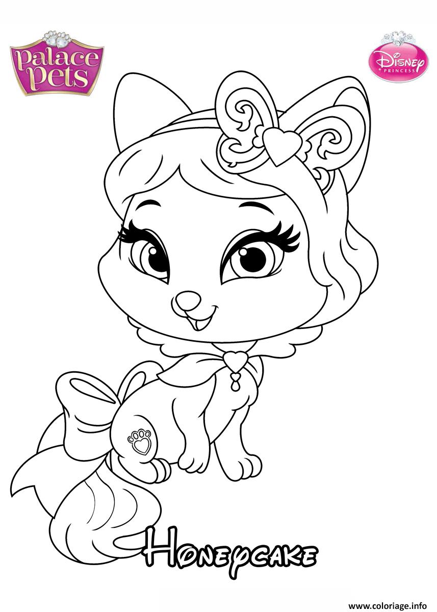 Coloriage Honeycake Princess Disney dessin
