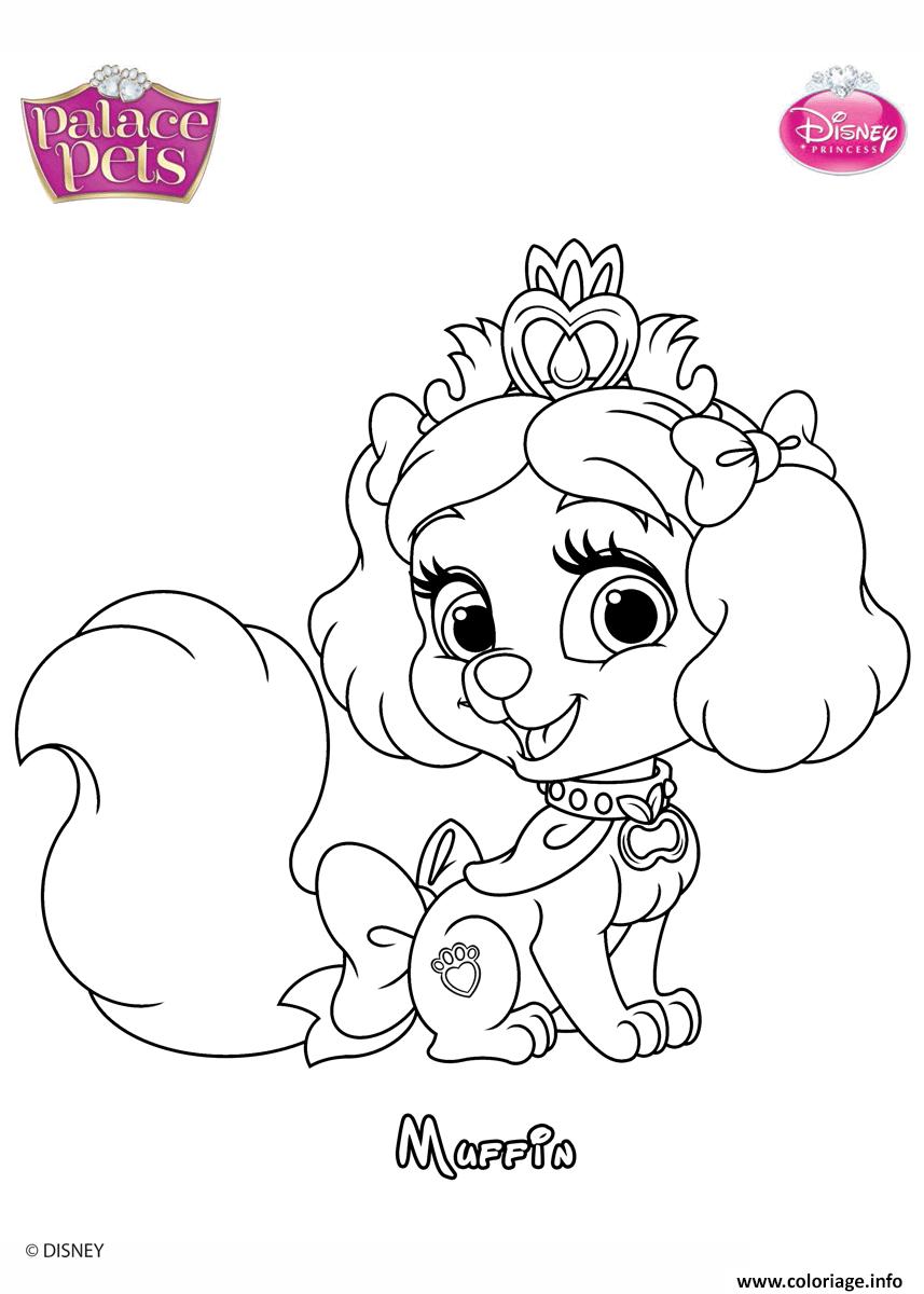 Coloriage Muffin Princesss Disney Dessin