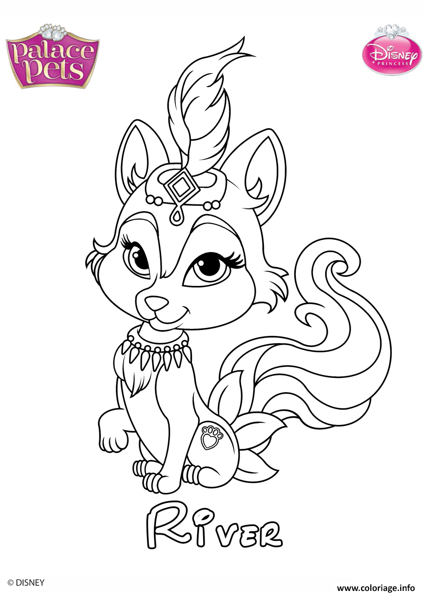 Coloriage Animaux Disney.Coloriage River Princess Disney Jecolorie Com