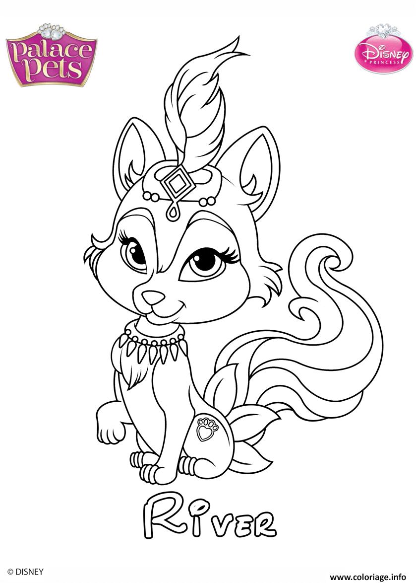Coloriage River Princess Disney dessin