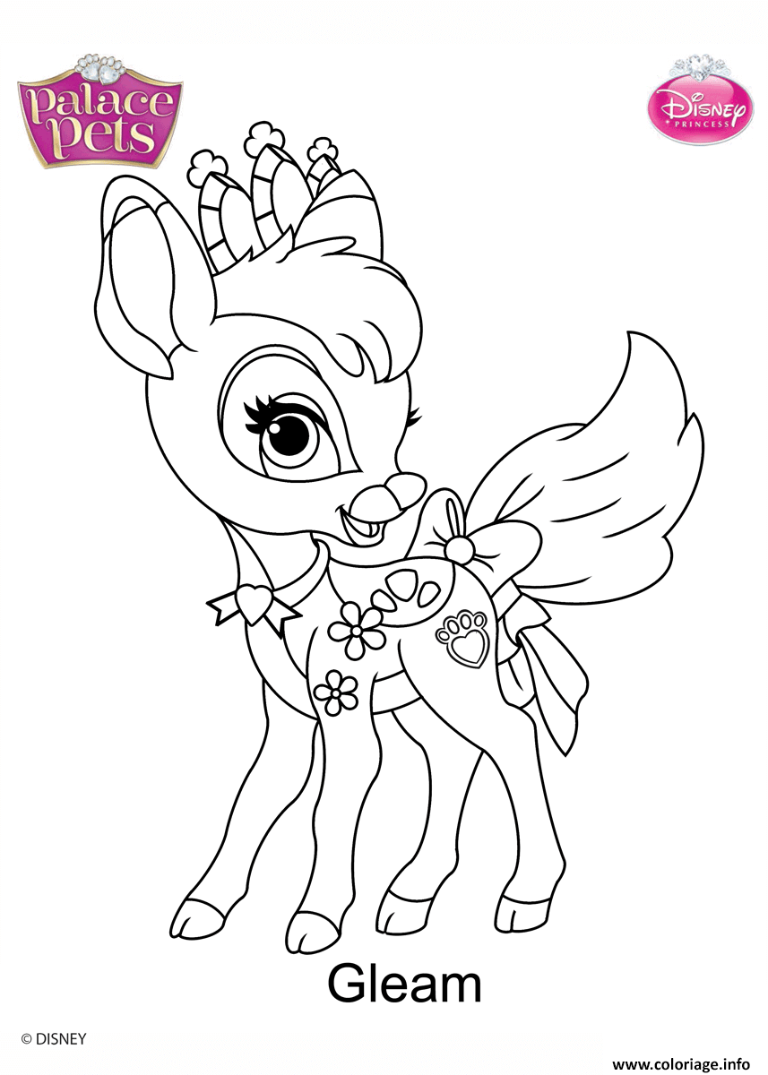 gleam princess disney coloriage