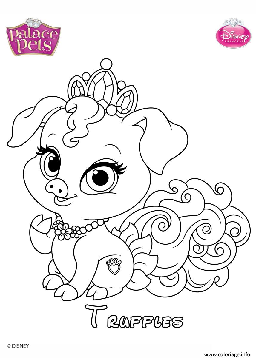 Dessin truffles princess disney Coloriage Gratuit à Imprimer
