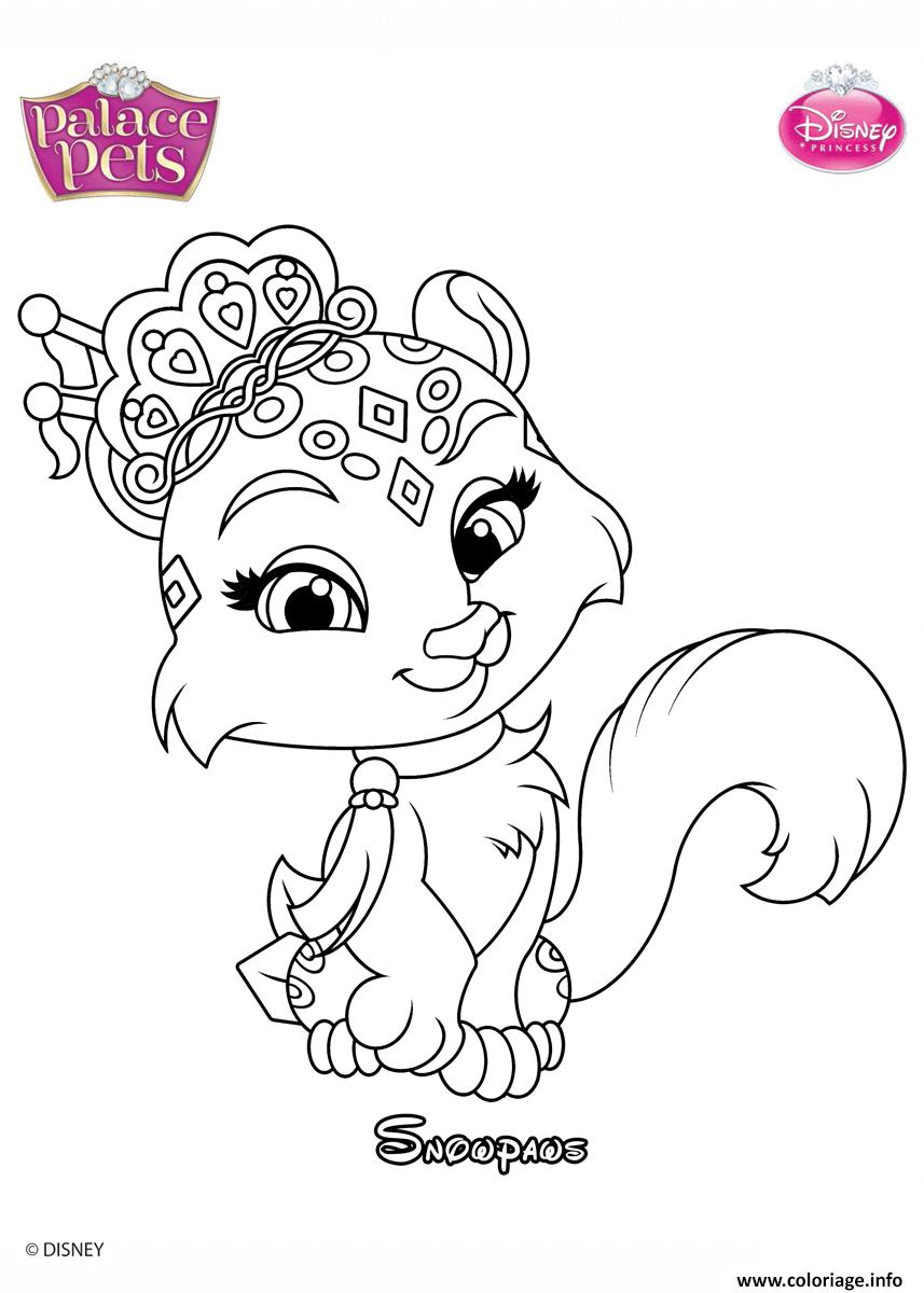 Dessin palace pets snowpaws disney Coloriage Gratuit à Imprimer