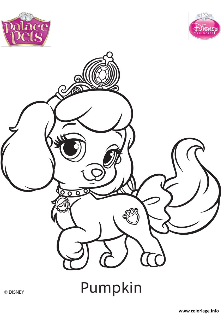 Coloriage Palace Pets Pumpkin Disney dessin
