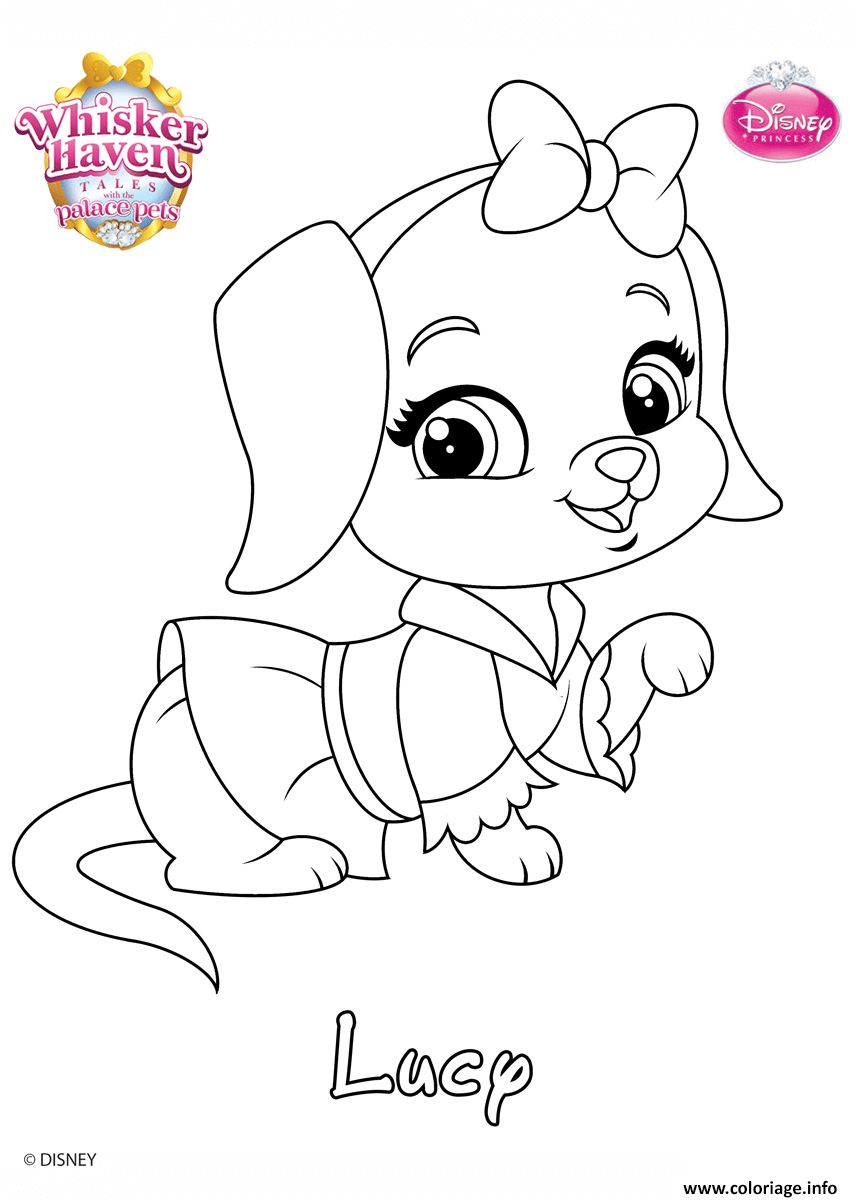 Coloriage Whisker Haven Lucy Princess Disney dessin