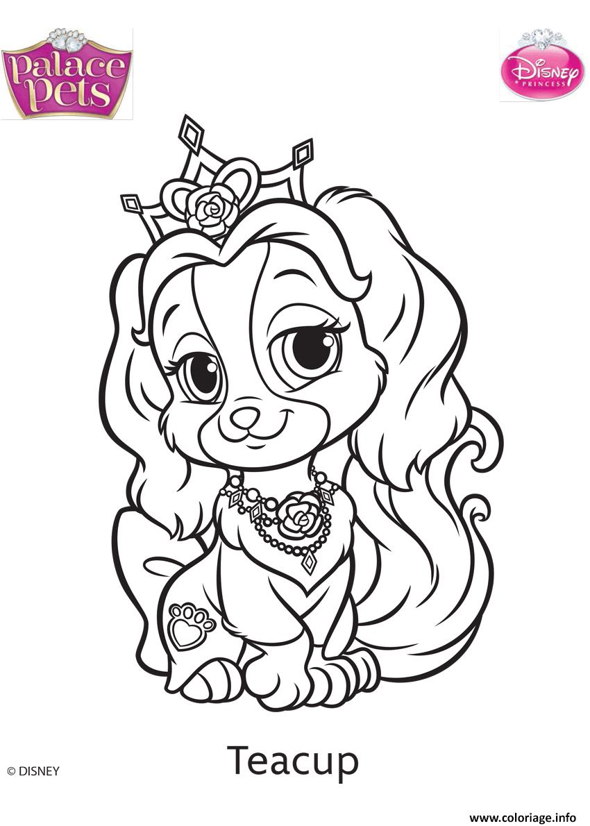 Coloriage Palace Pets Teacup Disney dessin