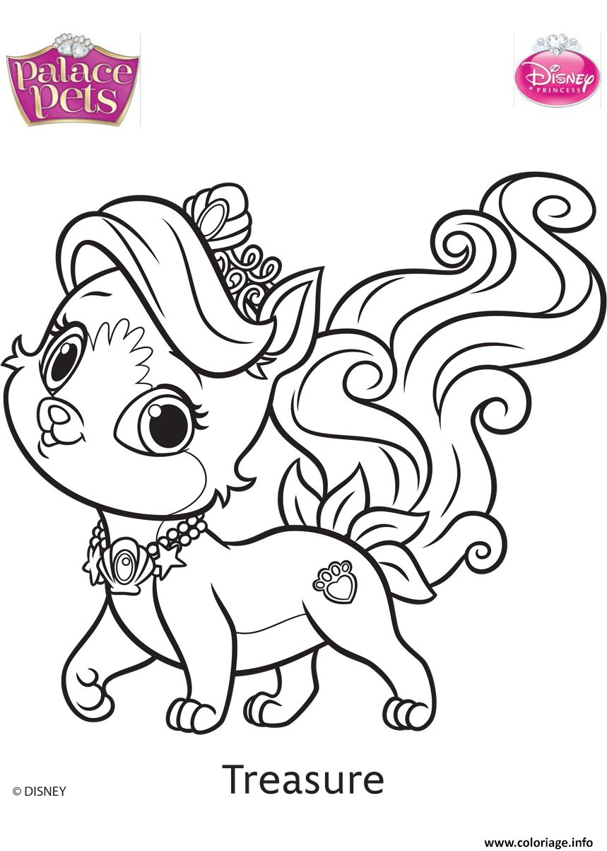 Coloriage Palace Pets Treasure Disney Dessin à Imprimer