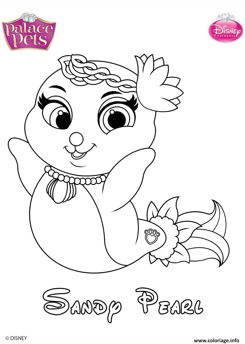 Dessin sandy pearl princess disney Coloriage Gratuit à Imprimer