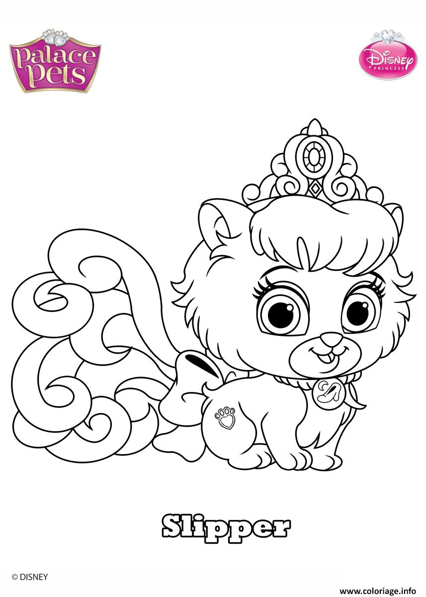 Dessin palace pets slipper disney Coloriage Gratuit à Imprimer