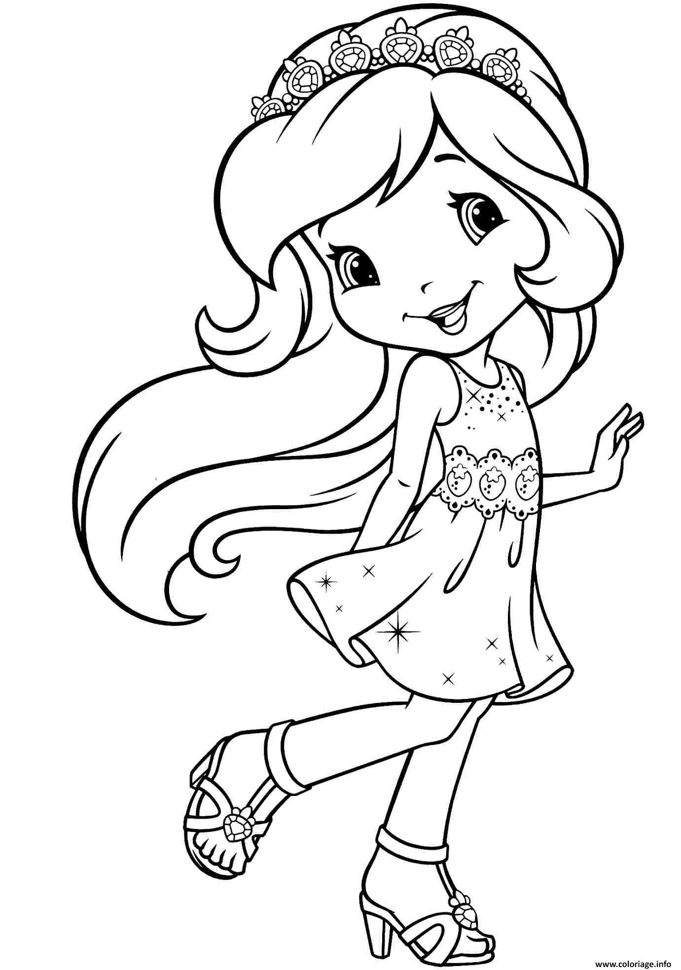 Dessin princesse fraisinette Coloriage Gratuit à Imprimer