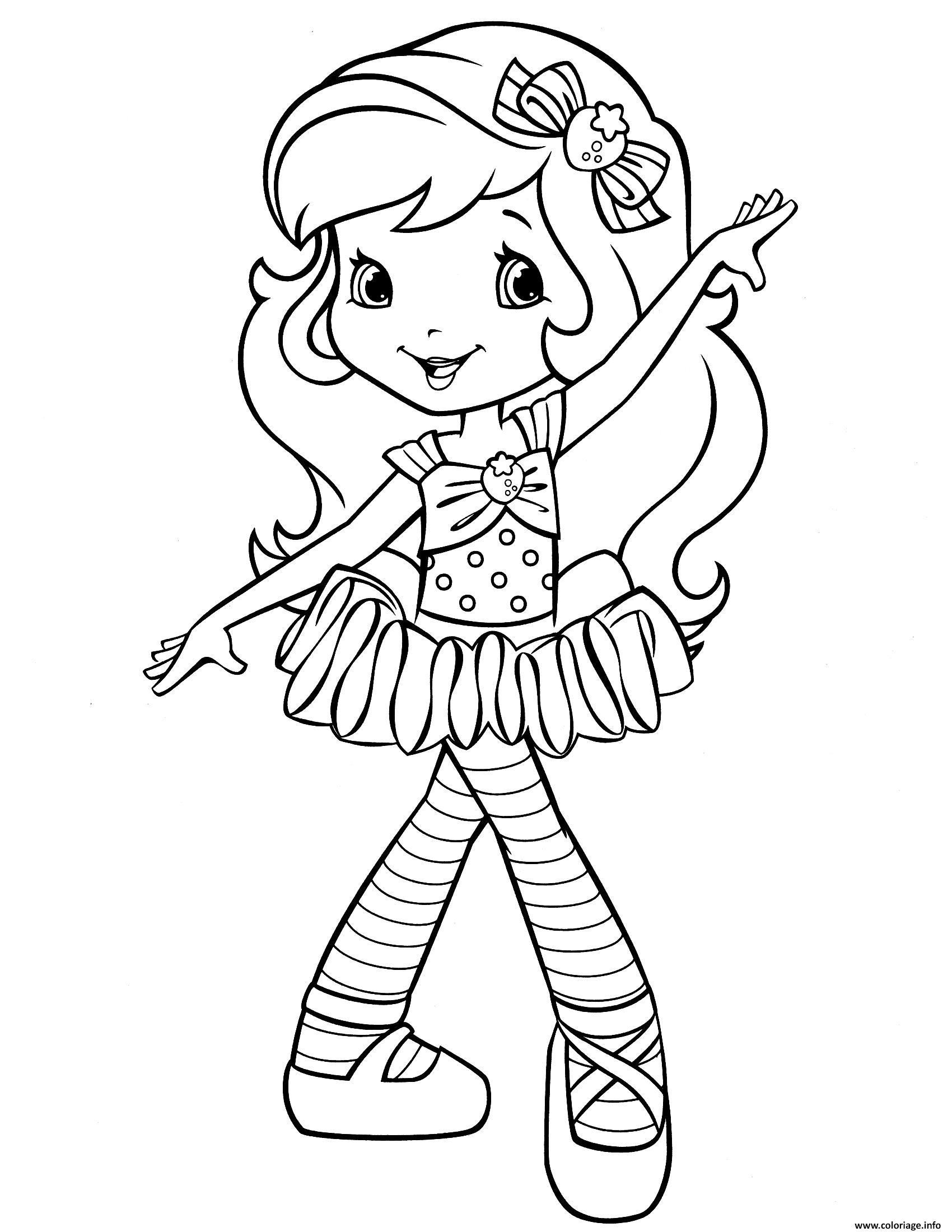 Dessin fraisinette adore la danse Coloriage Gratuit à Imprimer