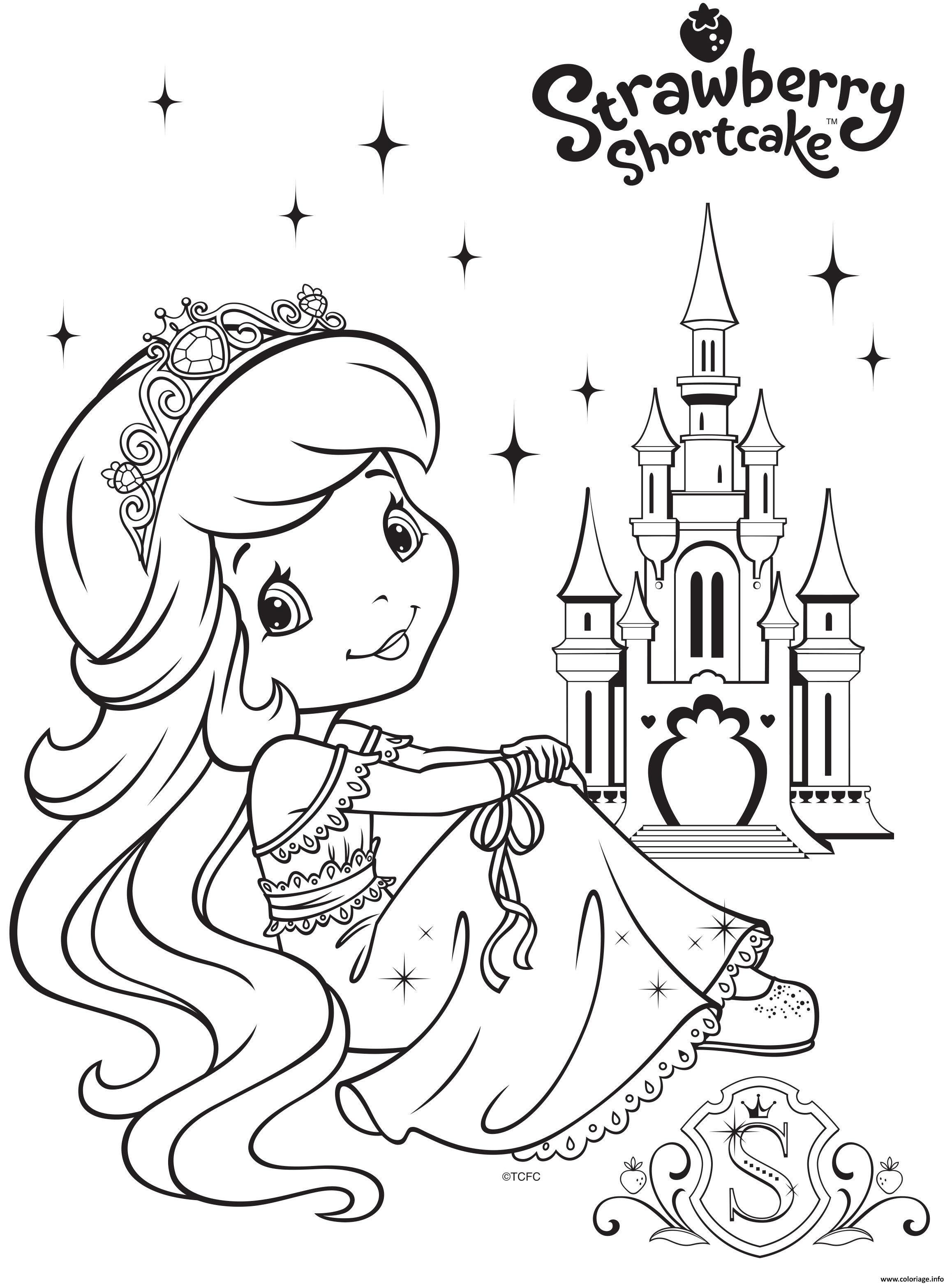 Dessin princesse fraisinette et son royaume Coloriage Gratuit à Imprimer