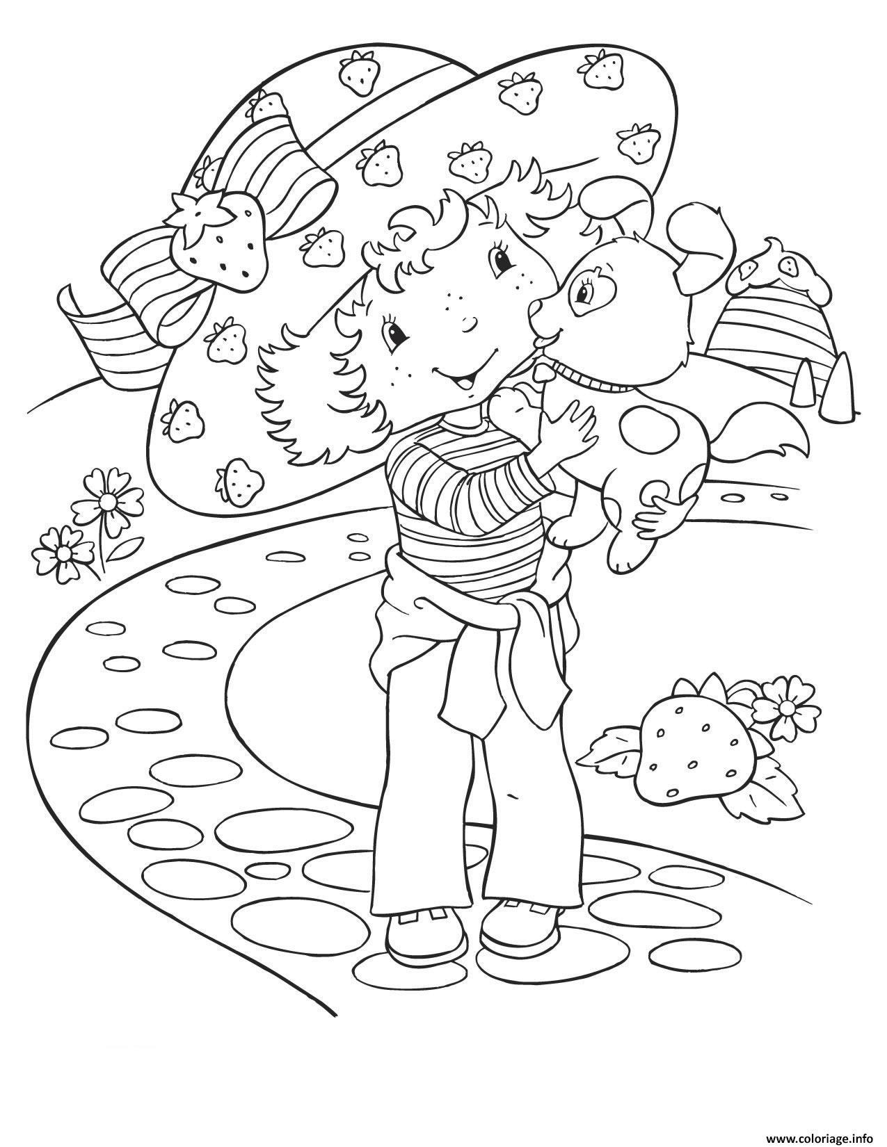 Dessin dessin de fraisinette ancien Coloriage Gratuit à Imprimer