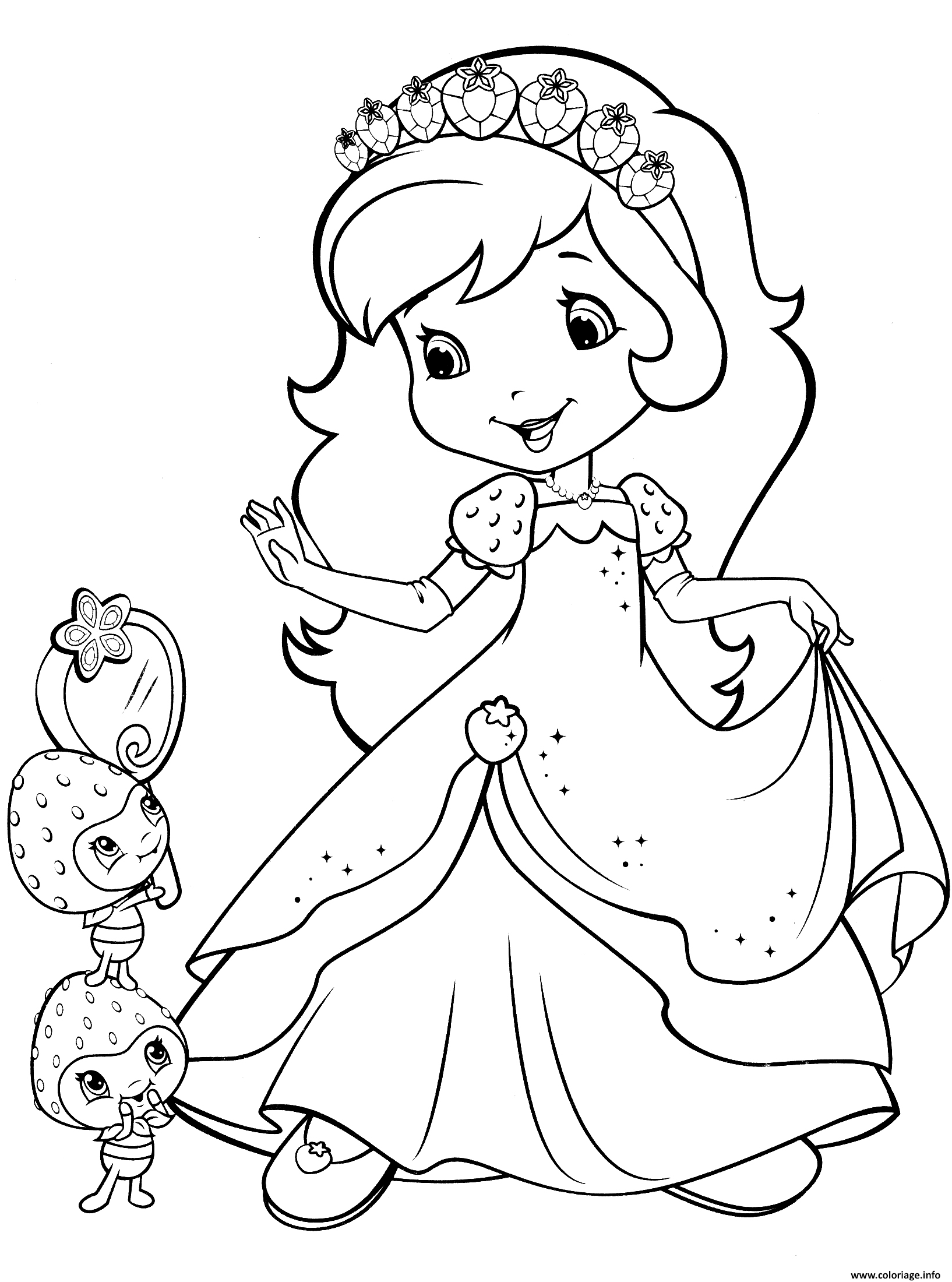 Coloriage Strawberry Shortcake And Berrykins Dessin à Imprimer