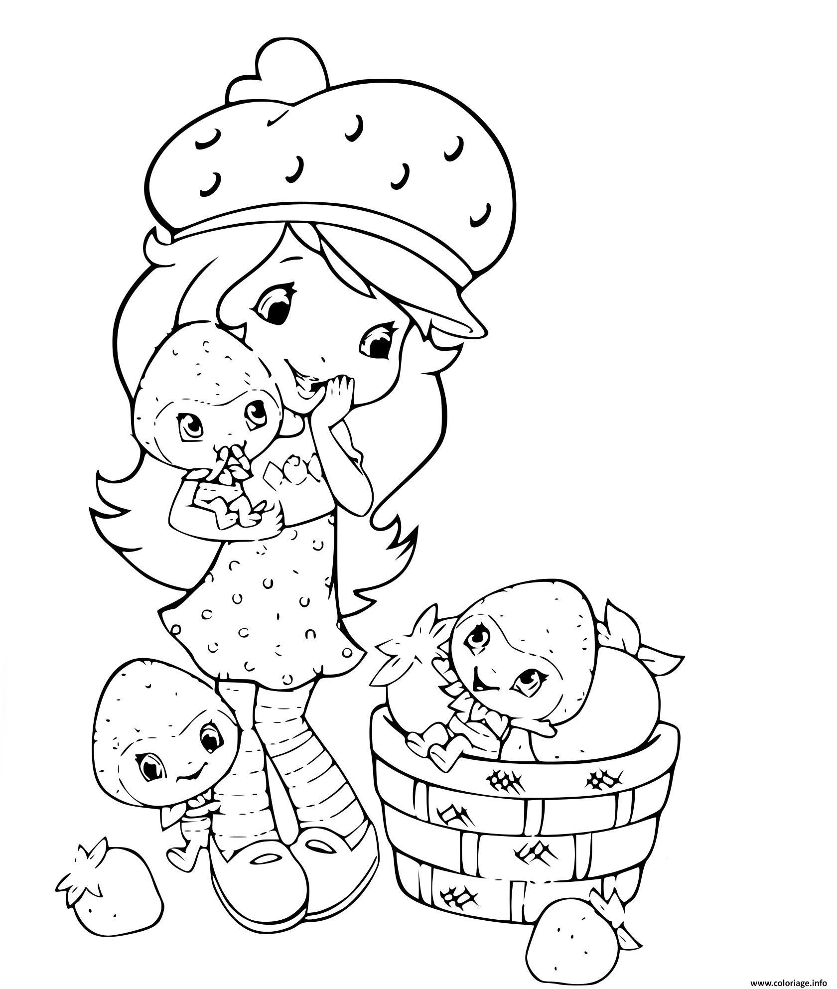 Dessin fraisinette strawberry Coloriage Gratuit à Imprimer