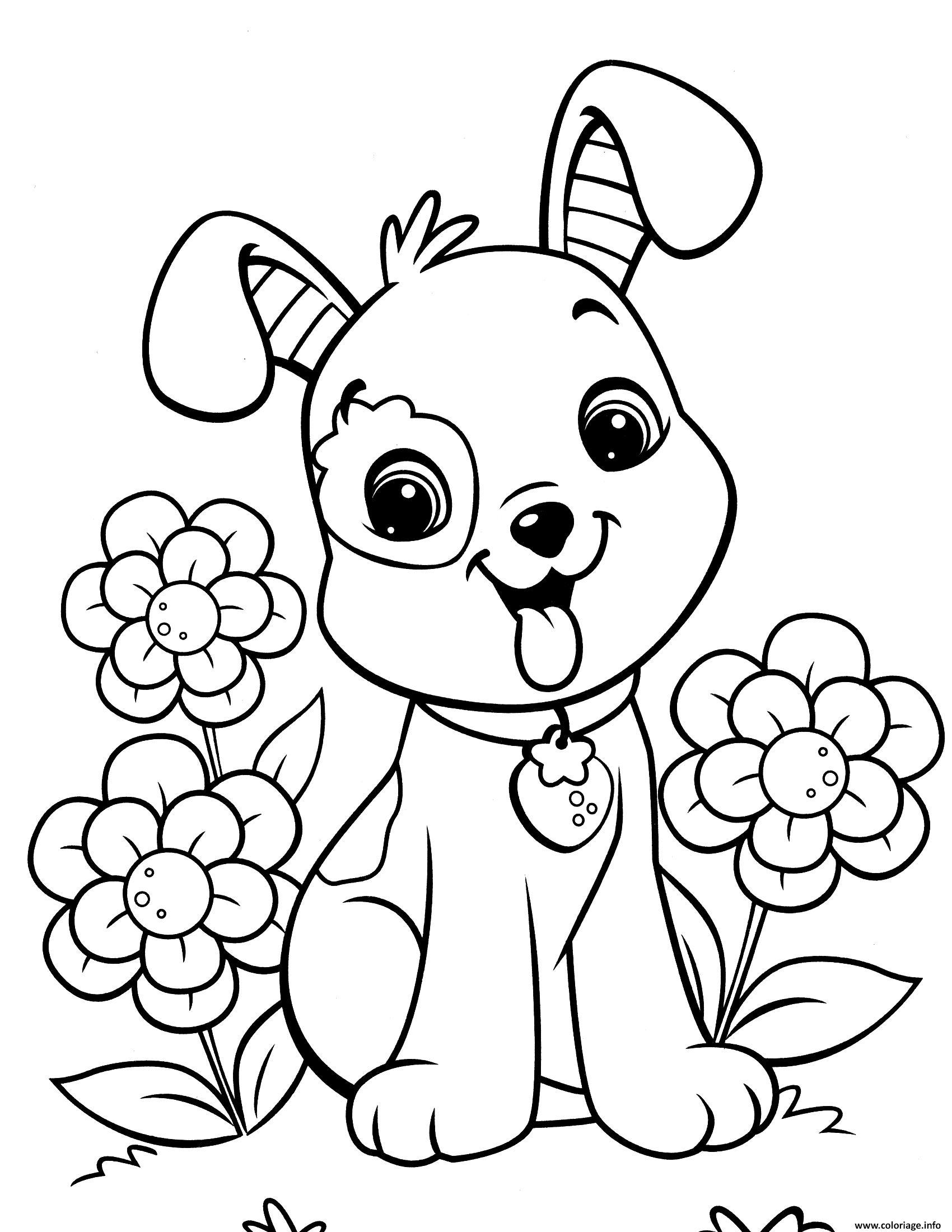 Dessin fraisinette chien animaux Coloriage Gratuit à Imprimer