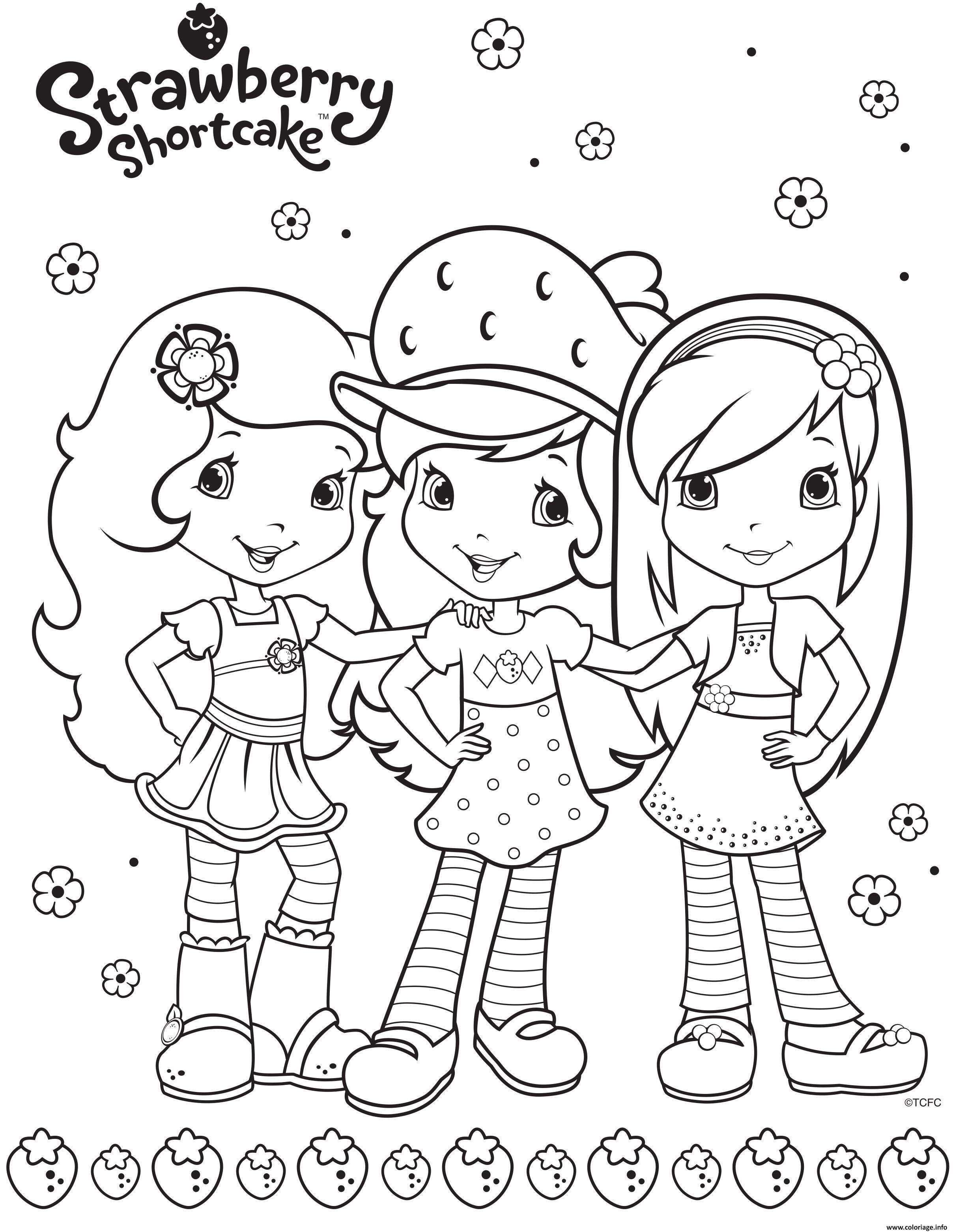 Dessin fraisinette et ses amies for ever Coloriage Gratuit à Imprimer