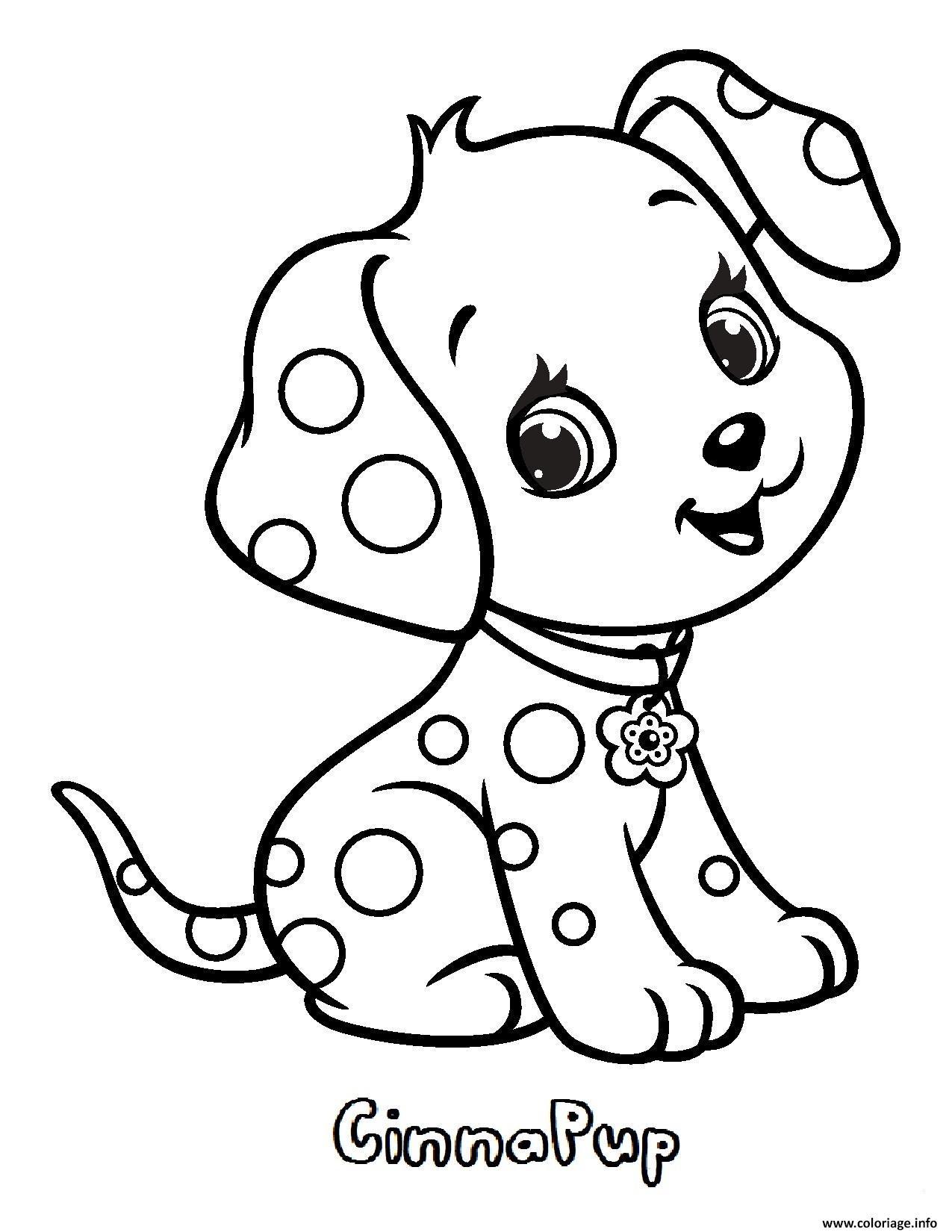 Coloriage chien cinnapup fraisinette animaux - Coloriage de chien ...