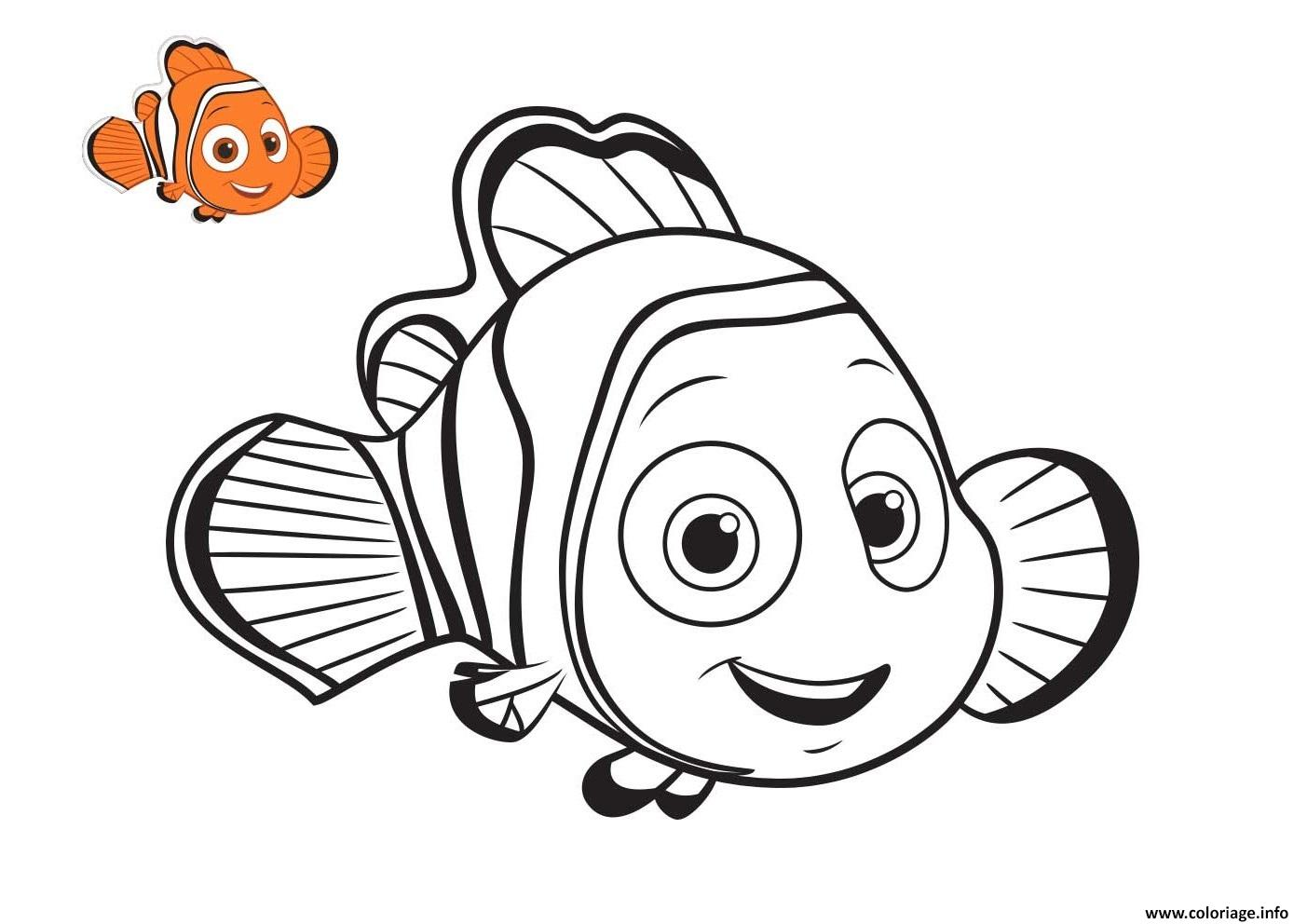 à couper le Souffle  Mot-Clé Coloriage Nemo Cherche Son Pere Dessin Nemo à imprimer