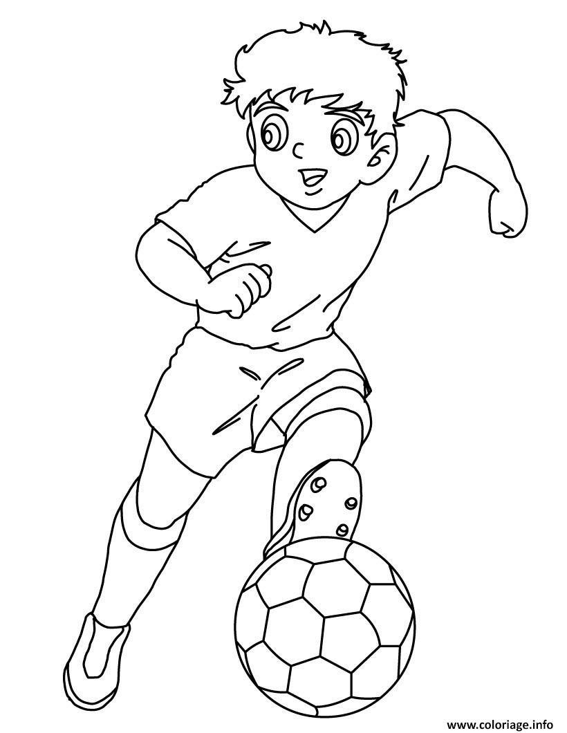 Coloriage Foot Pdf.Coloriage Captain Tsubasa Manga Foot Tom Et Olivier Dessin