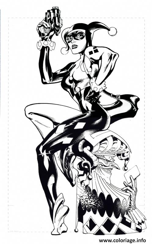 Coloriage Harley Wjoker Totem Bw Inks100 Jecolorie Com