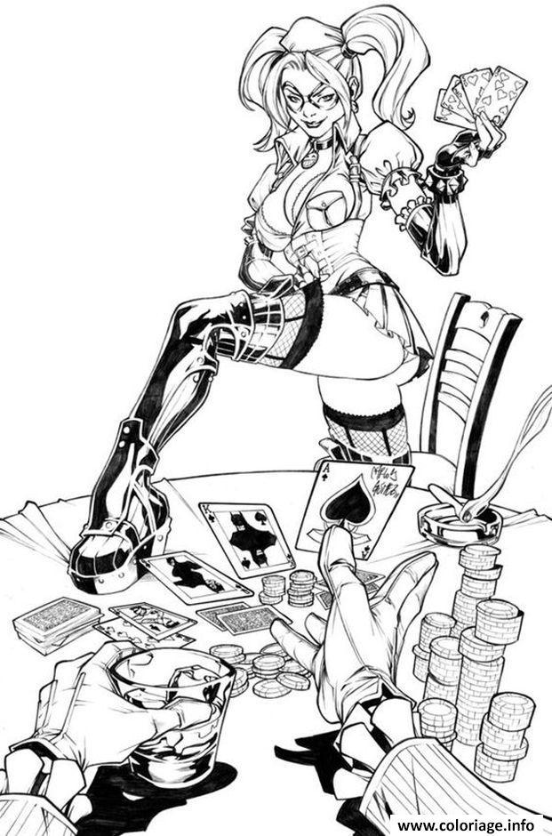 Coloriage Harley Suicide Squad Dessin
