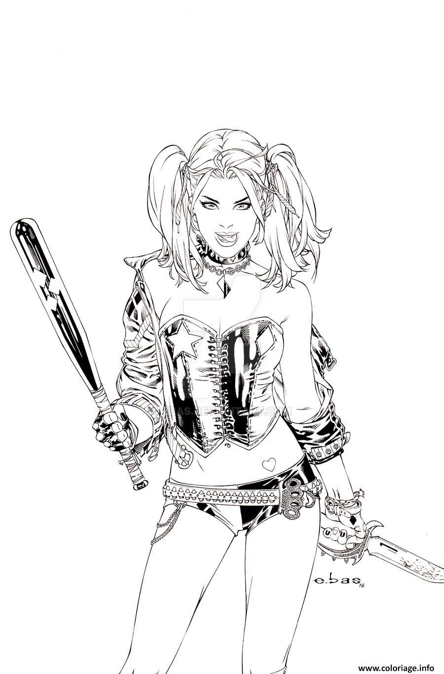 Coloriage Harley Quinn By Ebas Daaofp7 Dessin