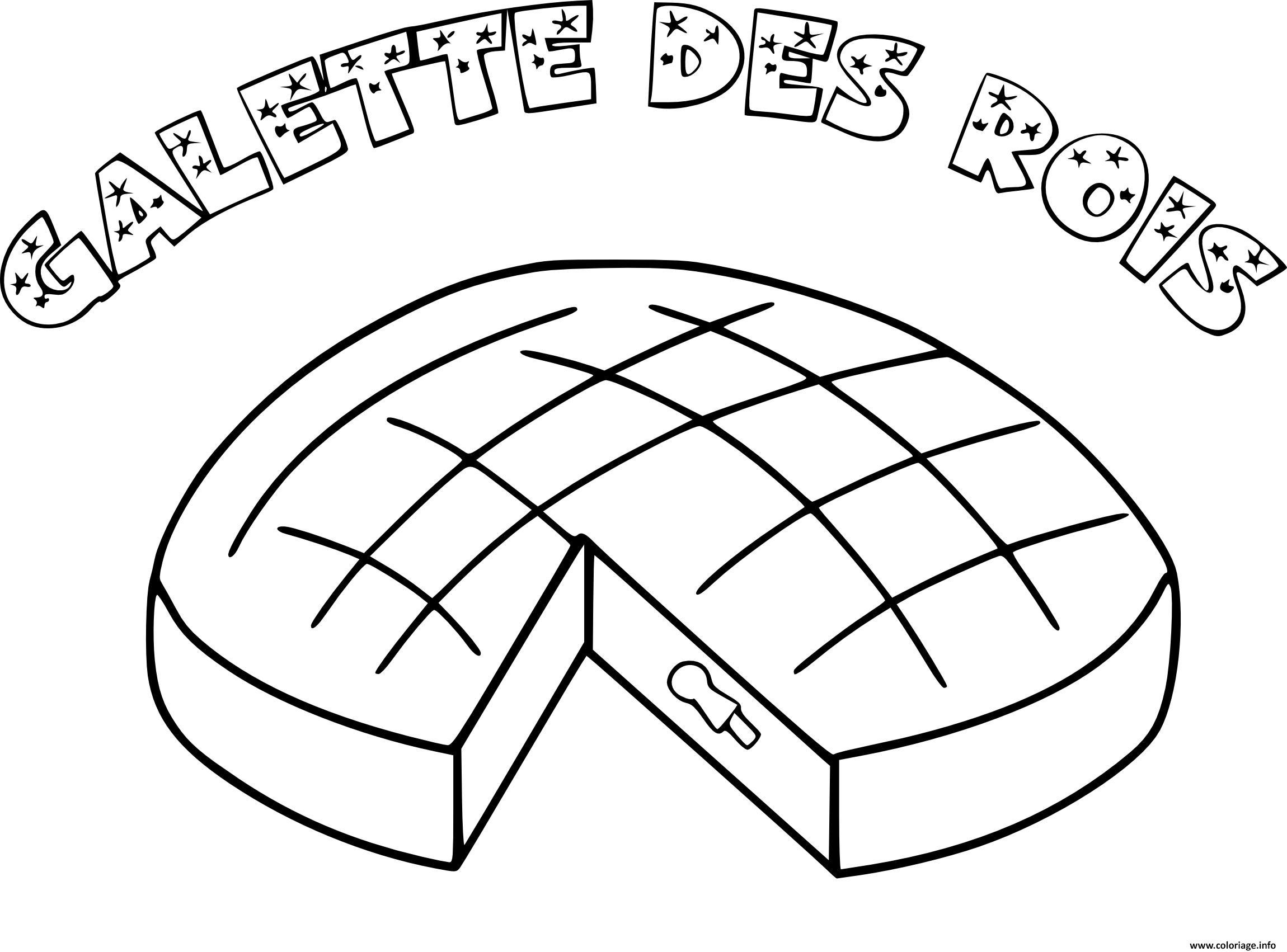 Coloriage galette des rois en janvier dessin - Dessin sur galette des rois ...