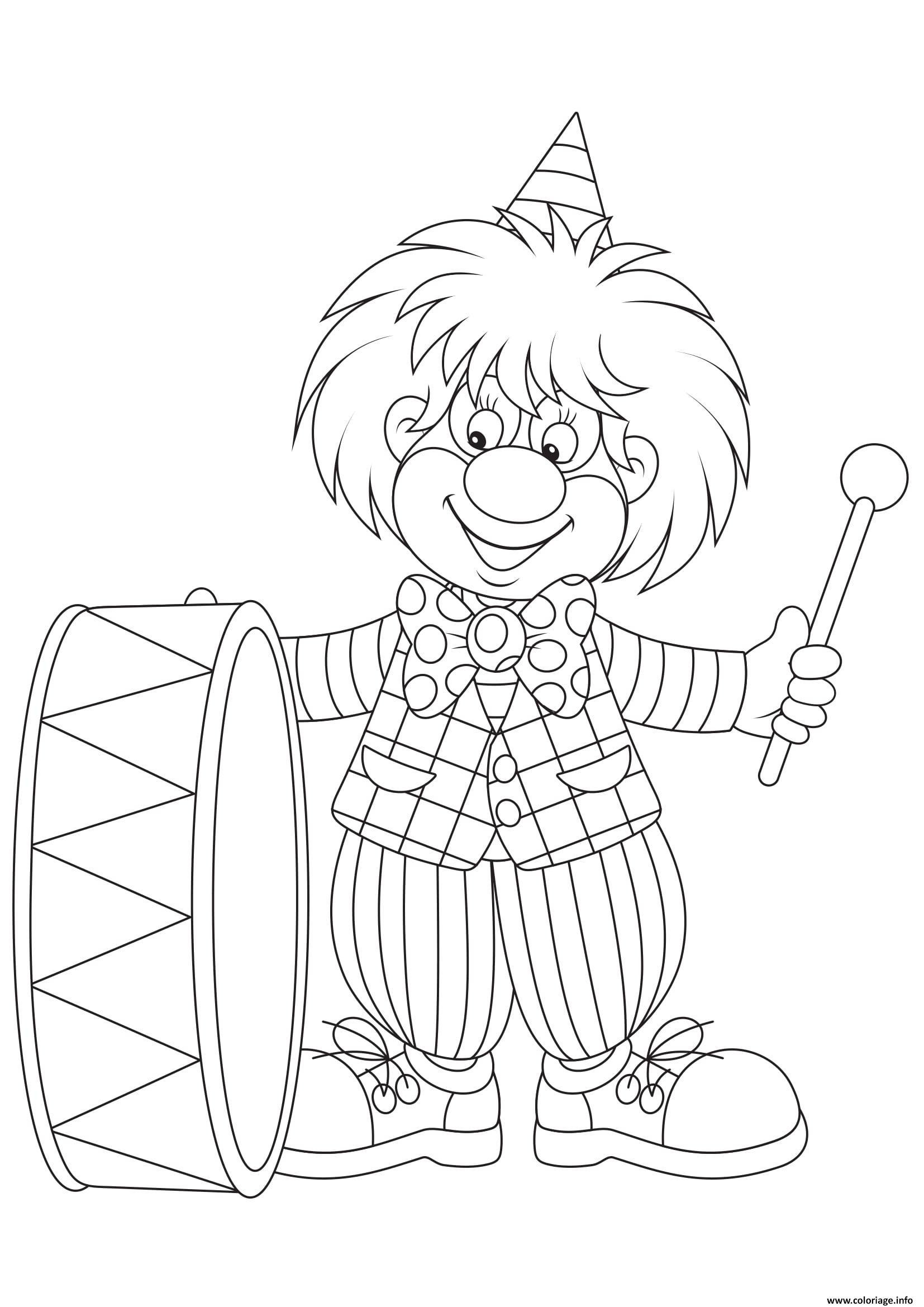 Coloriage clown pour enfants - JeColorie.com