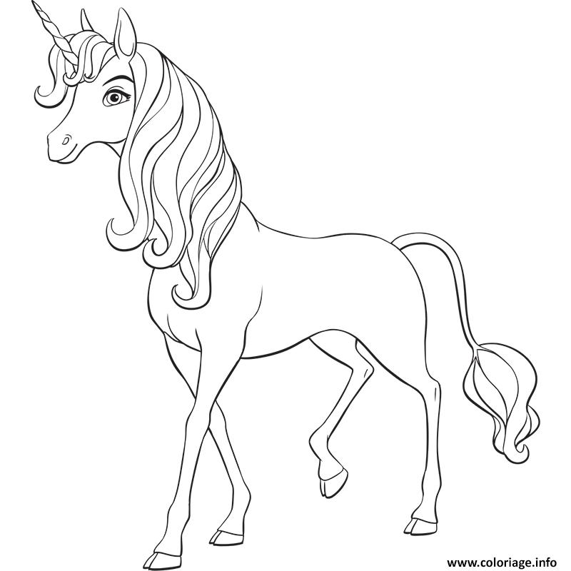 Dessin Mia and Me Unicorn Coloriage Gratuit à Imprimer