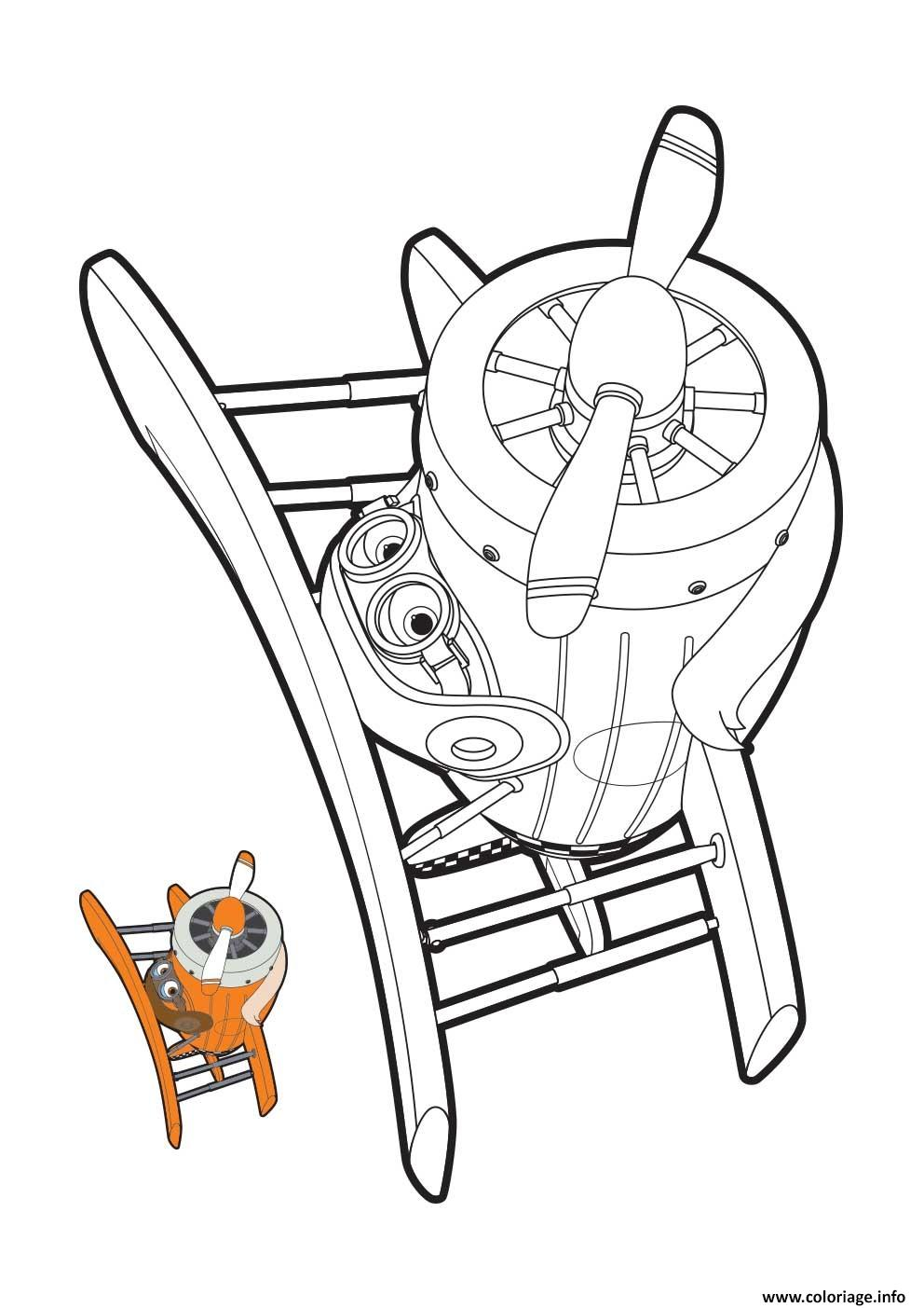 Coloriage Super Wings Grand Albert Mode Avion Dessin à Imprimer