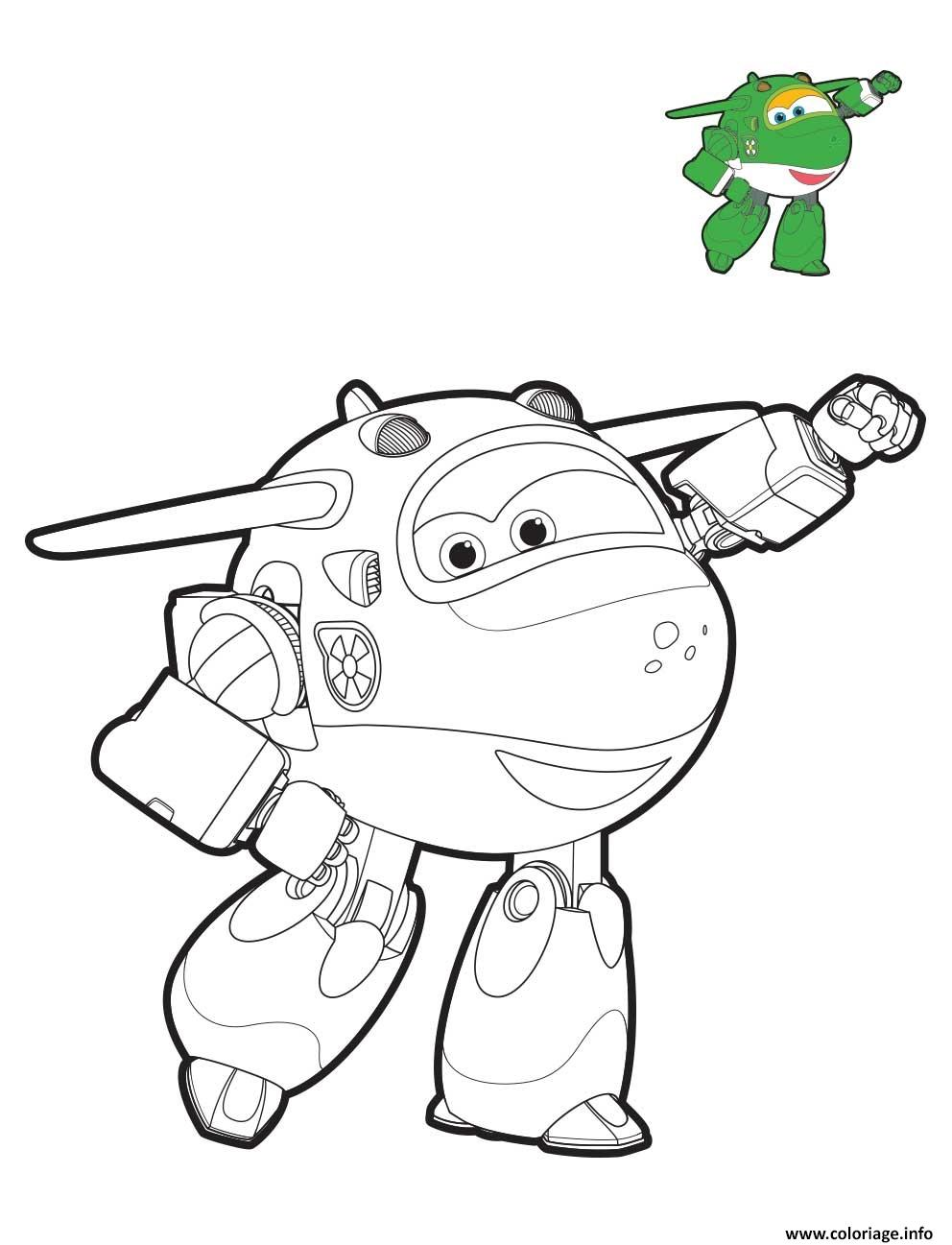 Coloriage Super Wings Mira Mode Robot Dessin