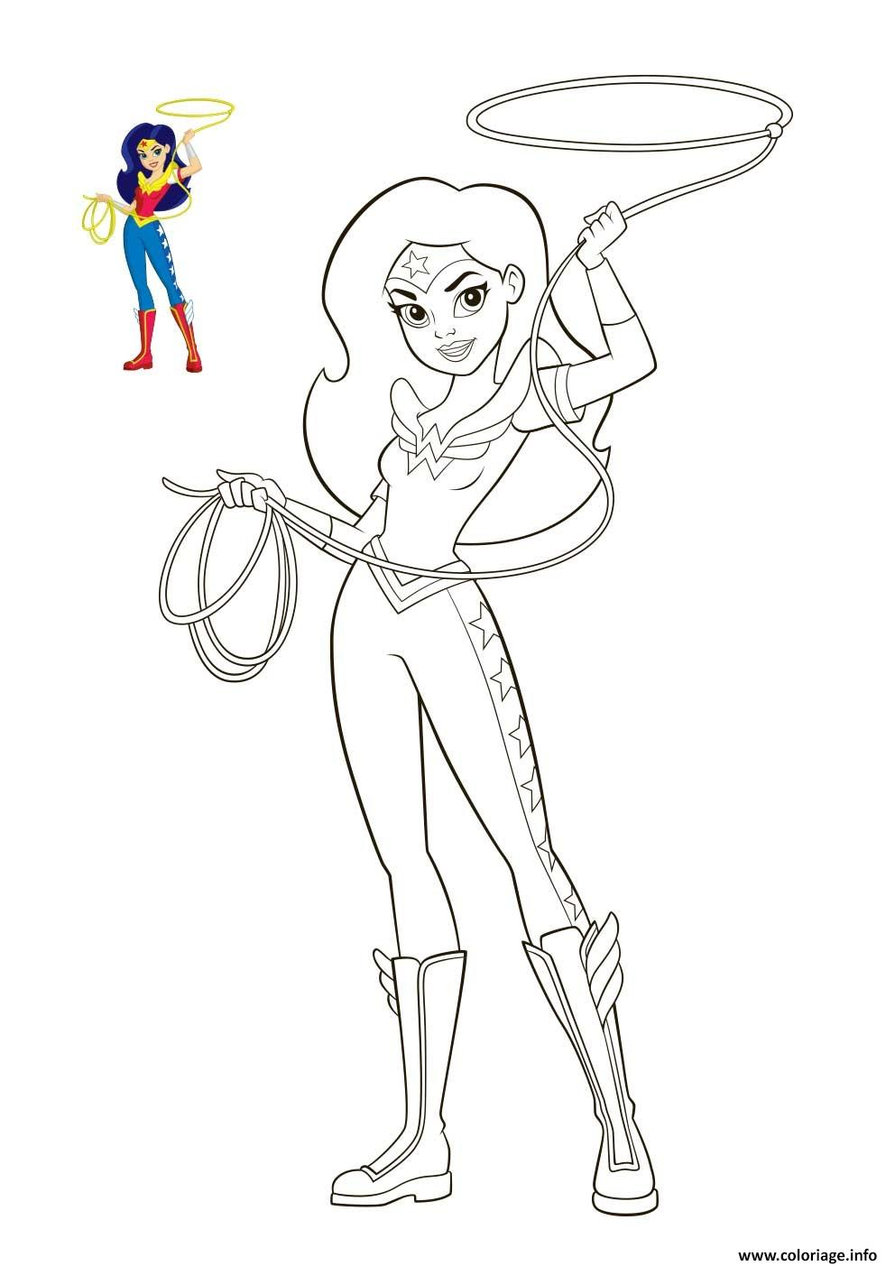 Coloriage wonder woman dc super hero girls - Dessin de heros ...