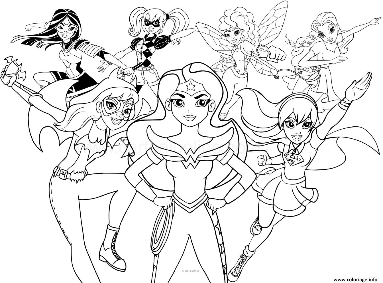 Ausmalbilder Marvel Superhelden: Coloriage Dc Superhero Girls Dessin
