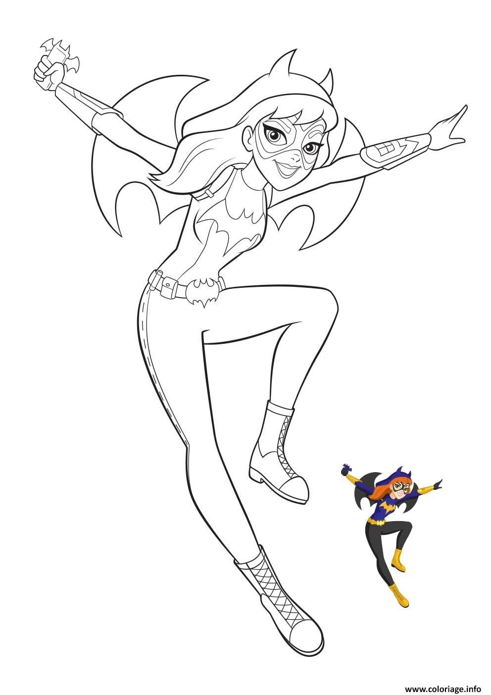 Coloriage batgirl dc super hero girls2 - Dessin de super heros ...