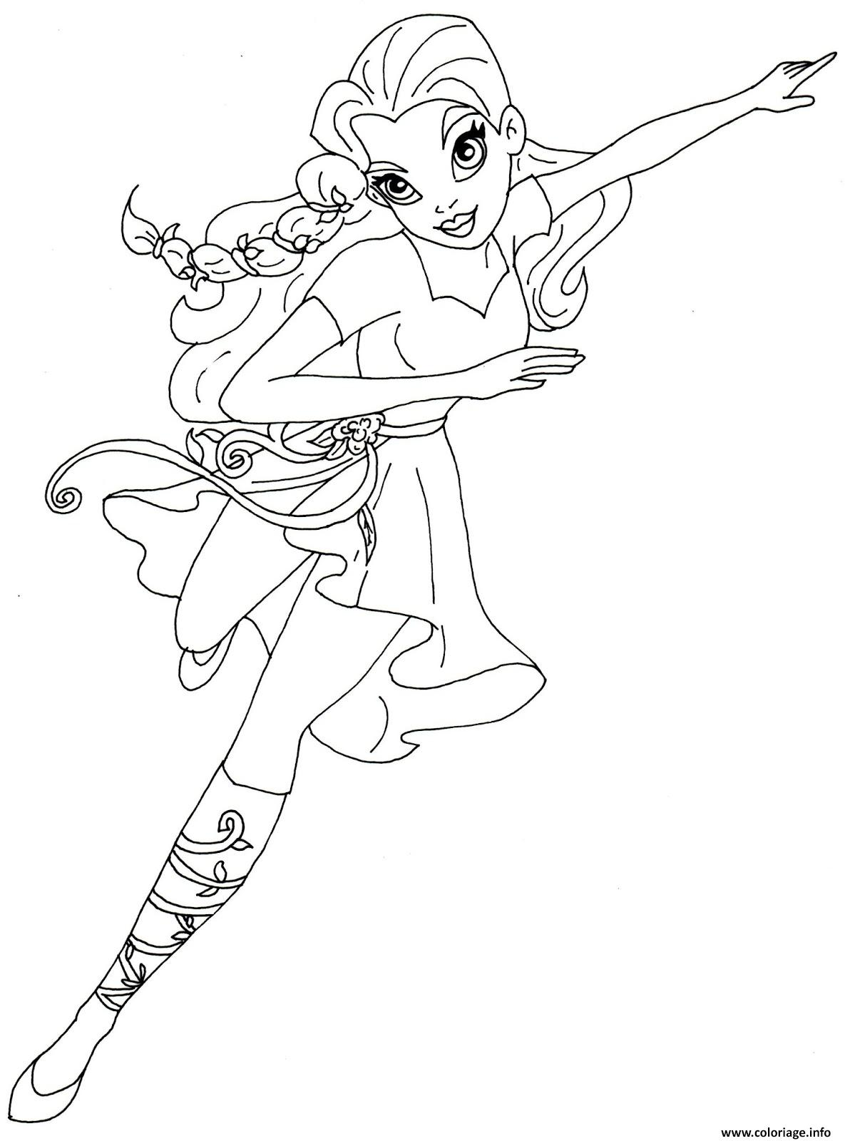 Coloriage Poison Ivy Super Hero Girls Dc Jecolorie Com