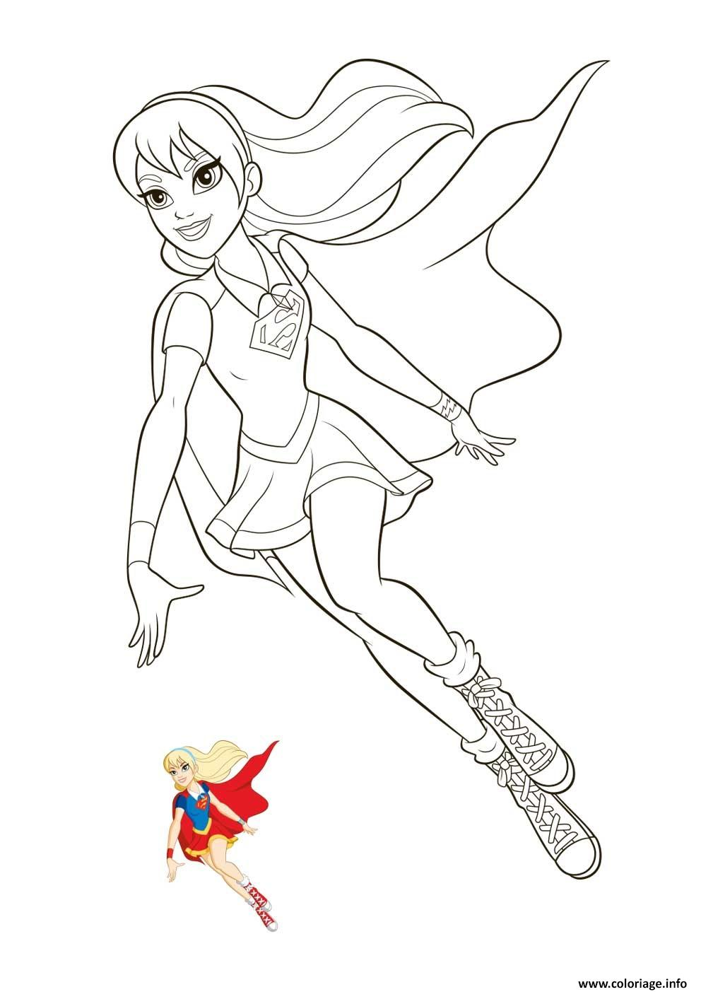 Coloriage supergirl super hero girls - Dessin de super heros ...