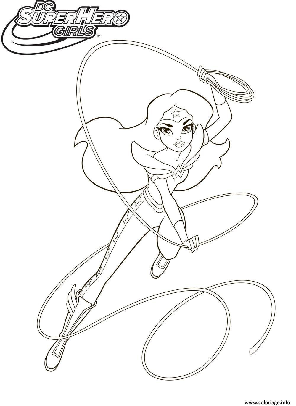 Coloriage Wonderwoman Super Hero Girls Dessin
