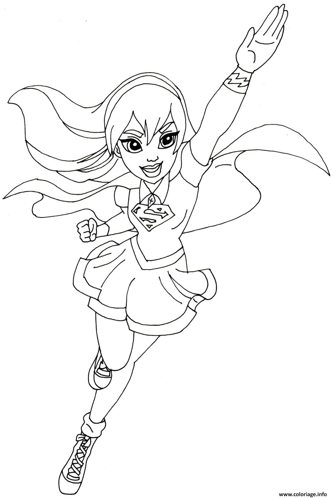 Coloriage supergirl dc super hero girls - Dessin super hero ...